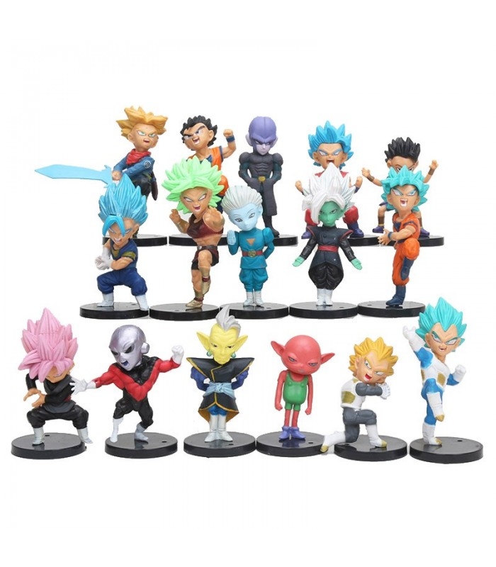 16 figuras Dragon Ball Super 7 cm Chikara no Taikai hijo Goku vegeta Trunks hitto cabba jiren Goku zamasu