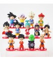 lote de 13 figuras Dragon Ball Z Figures Son Goku Gohan Goten Vegeta Trunks Bulma Pan Chichi Piccolo Krillin Anime