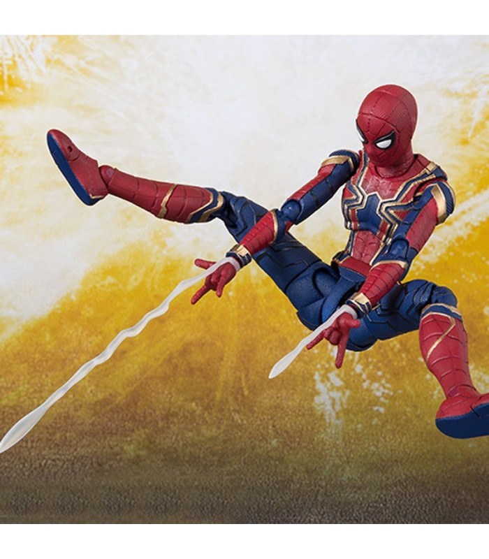 SHF Marvel Avengers Infinity War Iron Spider & Tamashi Stage 15cm BJD Spiderman