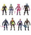 lote de 8 figuras fortnite de 12cm fornited